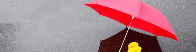 雨傘と長靴